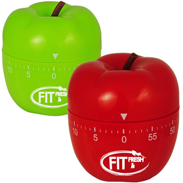 Printed Apple Shaped Kitchen Timer
