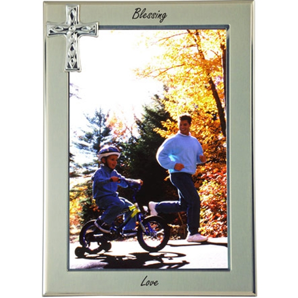 Promotional Cross Metal Picture Frame 5 x 7