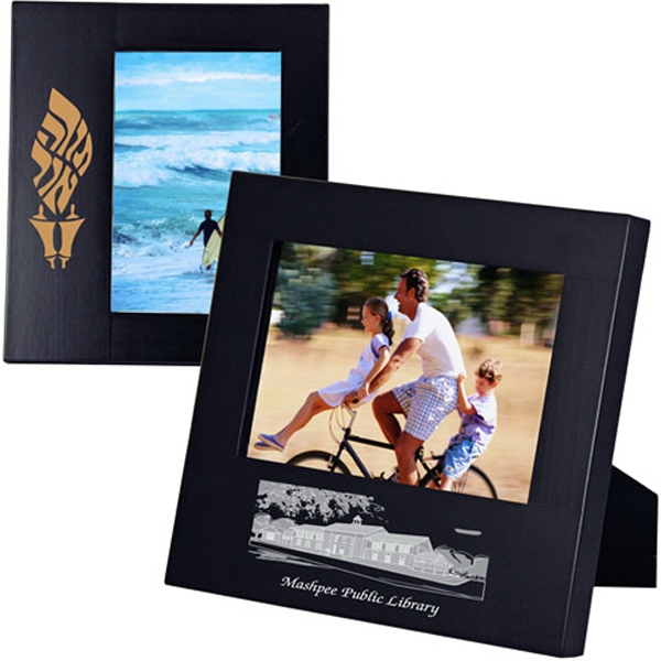 Personalized Wide Border Black Wood Frame 4 x 6