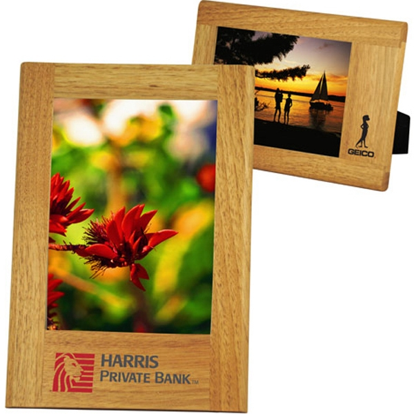 Custom Wide Border Natural Wood Frame 5 x 7