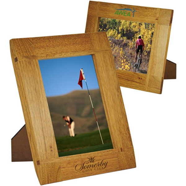 Printed Curved Border Natural Wood Frame 5 x 7