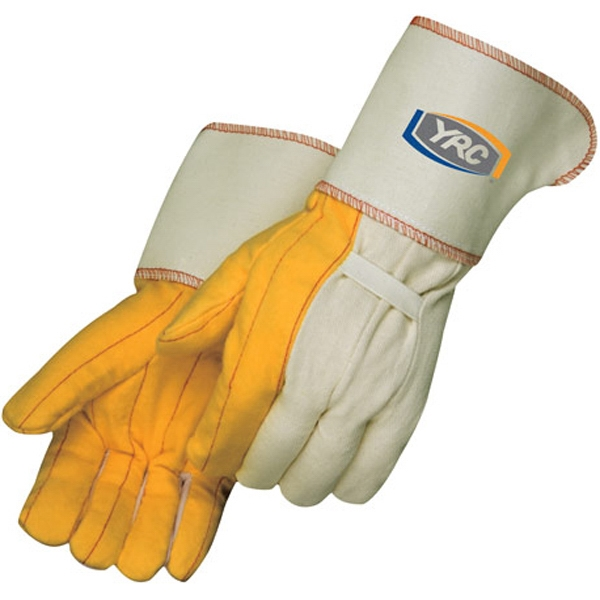 Printed Golden Chore Gloves with Gauntlet Cuff