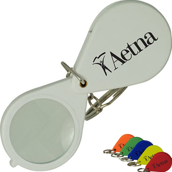 Promotional Assorted Colored Folding Keychain Magnifier