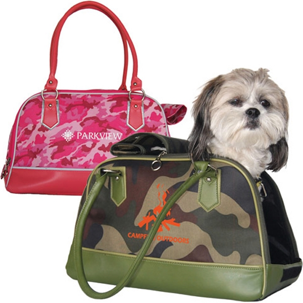 Imprinted Camo Travel Tote Pet Carrier