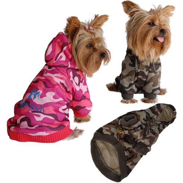 Imprinted Dog Camo Hoody Sweatshirt