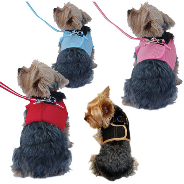 Customized Dog Mesh Harness with Leash
