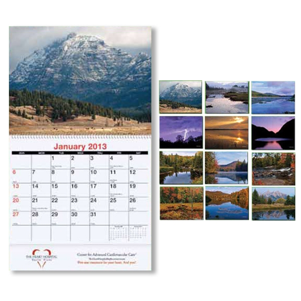 Personalized Monthly wall calendar - Majestic Outdoors