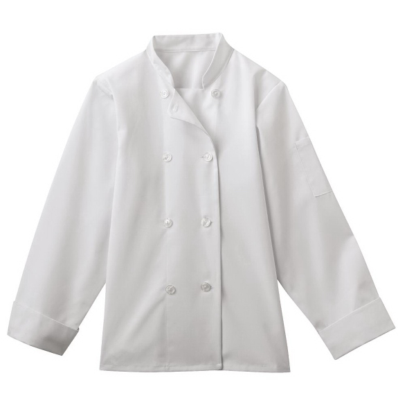 Personalized SA18026 White Swan Ladies 8 Button Chef Jacket