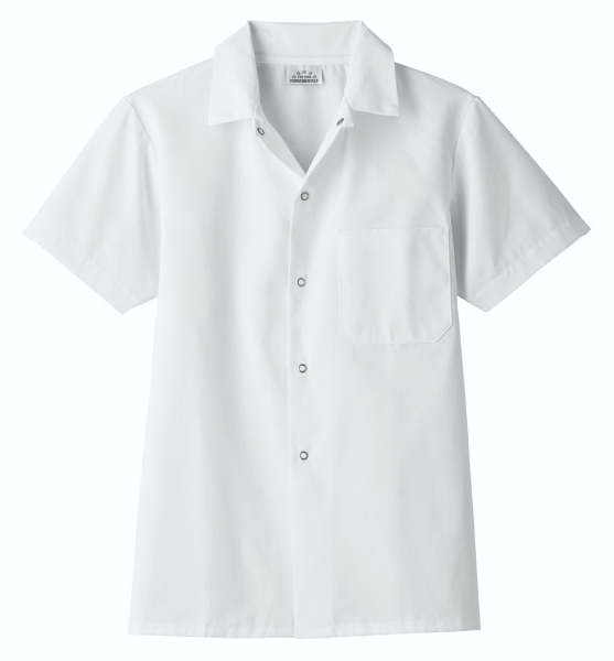 Printed SA18010 White Swan Men's Chef Cook Shirt
