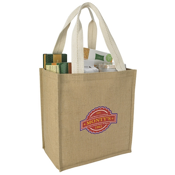 Personalized Jute Grocery Tote