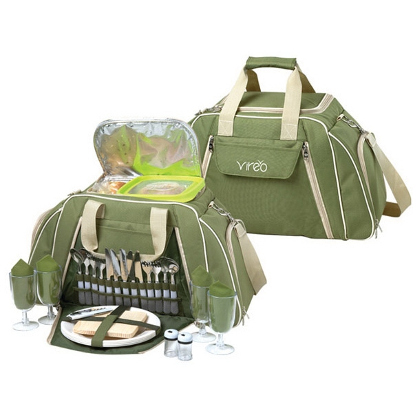Imprinted Picnic Duffel For 4