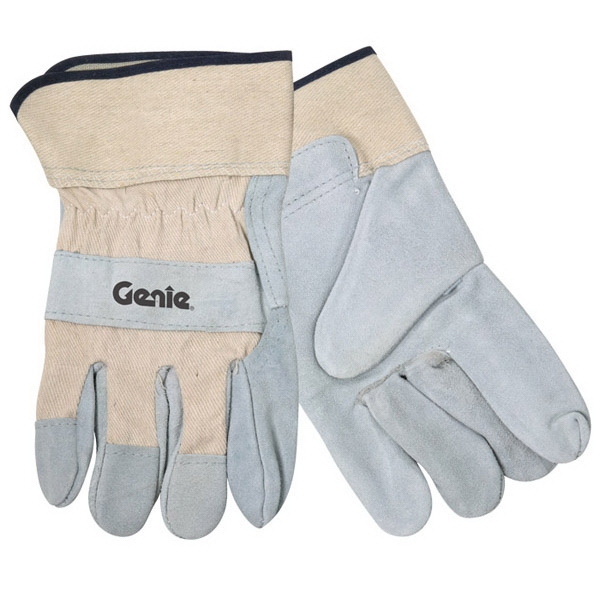 Imprinted Spilt Leather Glove With Safety Cuffs