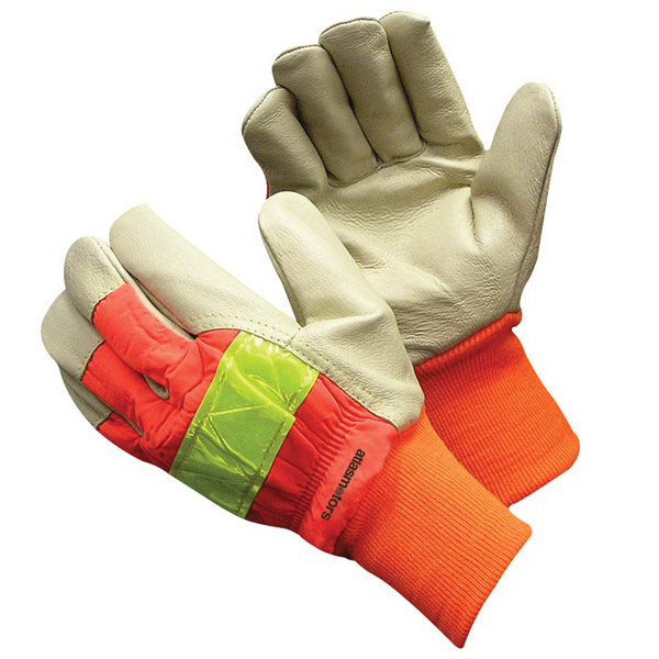 Promotional Hi-Vis Pigskin Glove With Knit Wrist