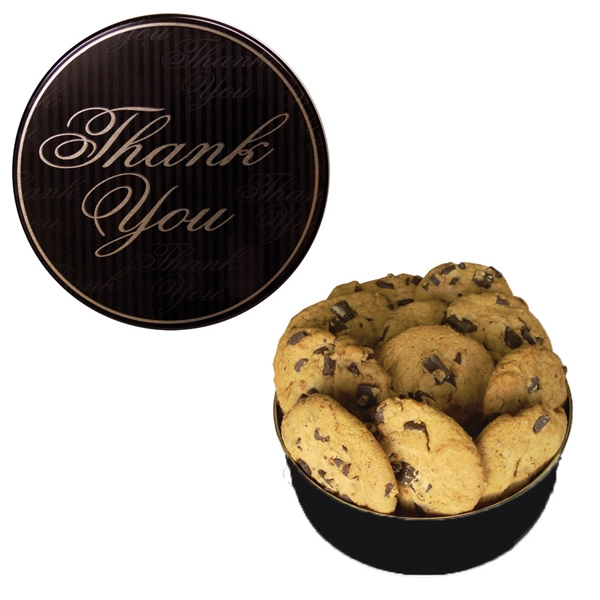 Imprinted The Royal Cookie Tin - Thank You Design - Cookies