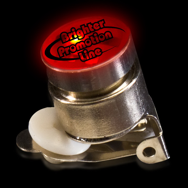 Customized Red Flashing LED Light Up Glow Button
