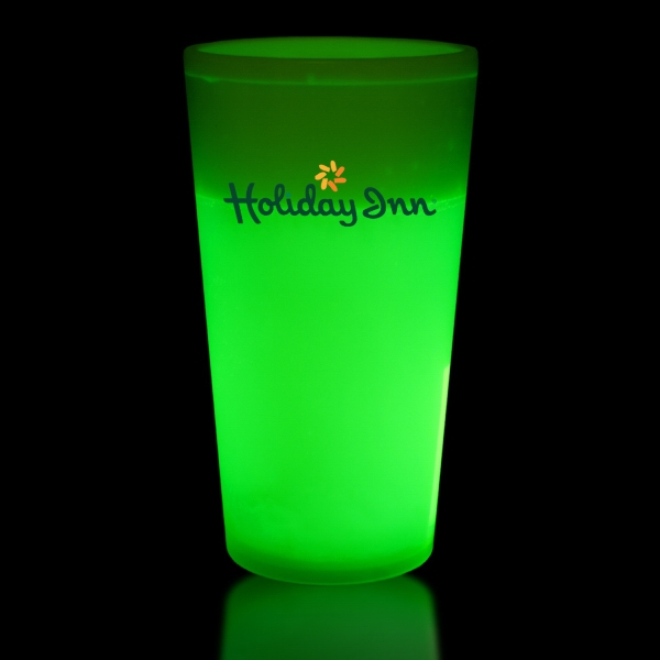 Printed Green 12 oz. Light Up Glow Cup