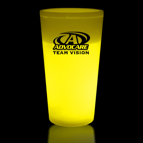 Imprinted Yellow 12 oz. Light Up Glow Cup