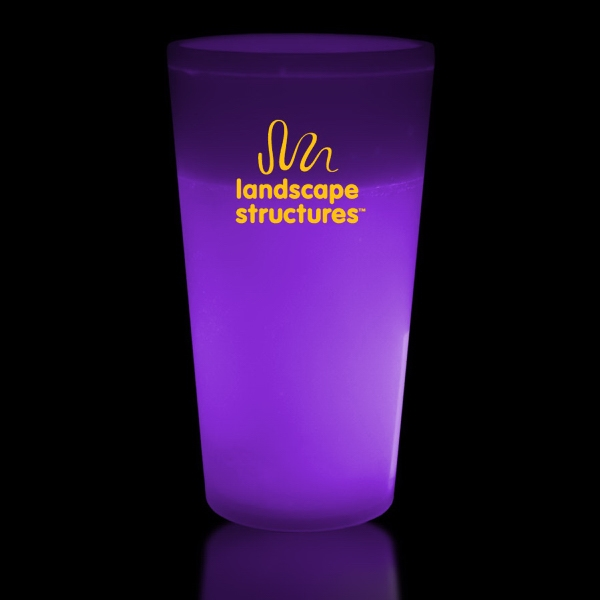 Printed Purple 12 oz. Light Up Glow Cup