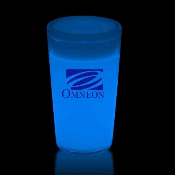 Personalized Blue 2 oz. Tapered Style Light Up Glow Shot Glass