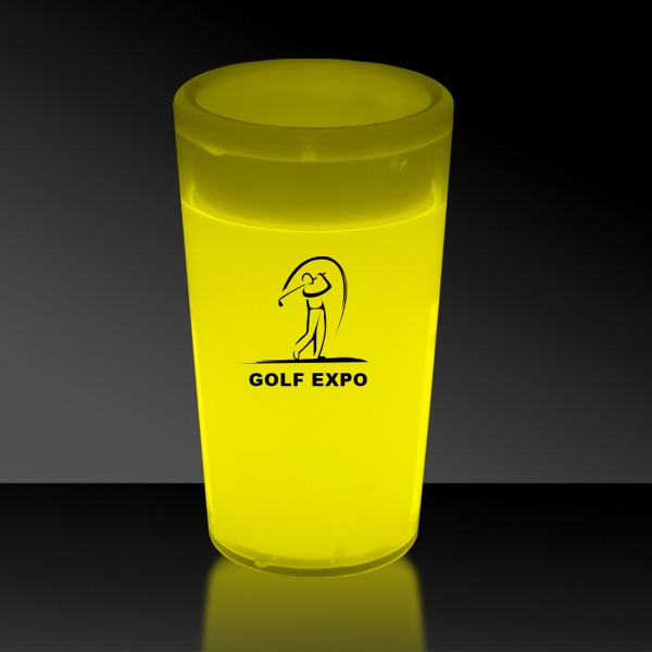 Printed Yellow 2 oz. Tapered Style Light Up Glow Shot Glass