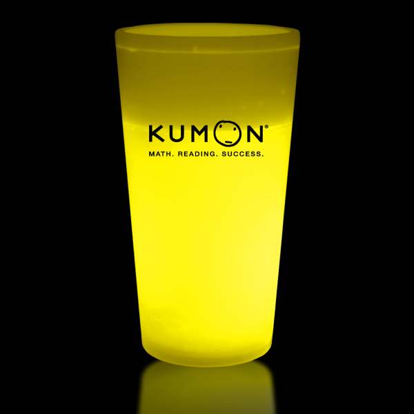Printed Yellow 16 oz. Light Up Glow Cup