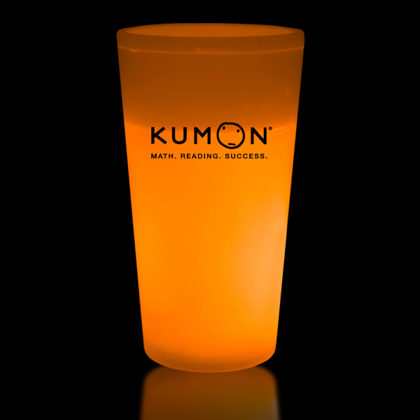 Promotional Orange 16 oz. Light Up Glow Cup