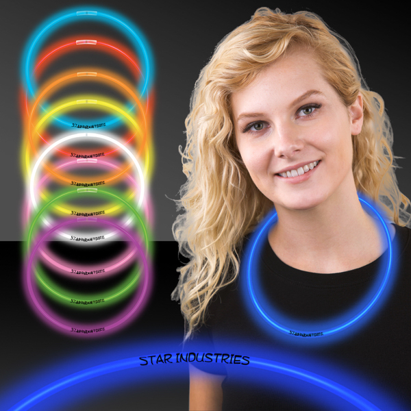 """Custom 22"""" Superior Color Light Up Glow Necklace"""