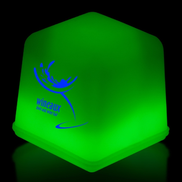 Imprinted Green Glow Light Up Ice Cubes Packed in Tray of 24 Pieces
