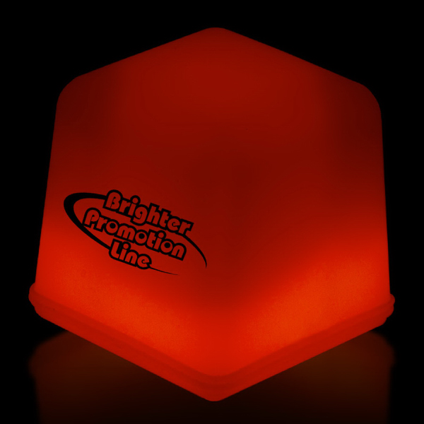 Custom Red Glow Light Up Ice Cubes Packed in Tray of 24 Pieces