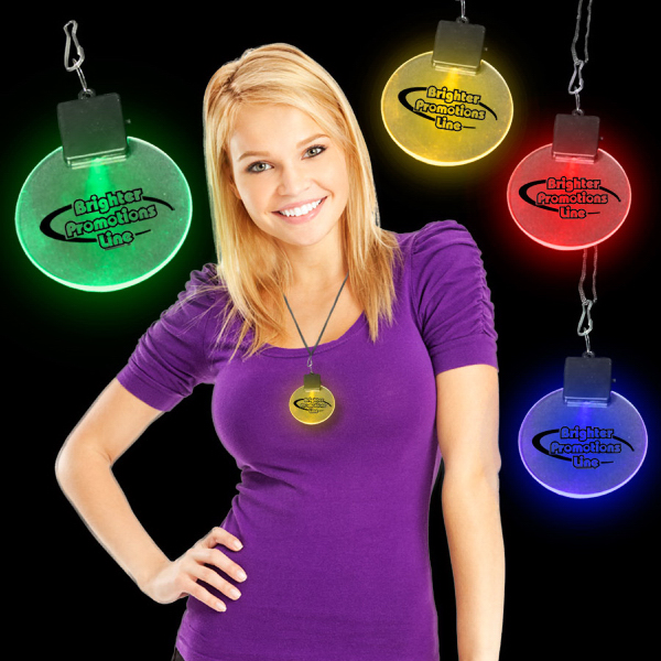 "Promotional 2 1/2"" Light-Up LED Glow Medallion"
