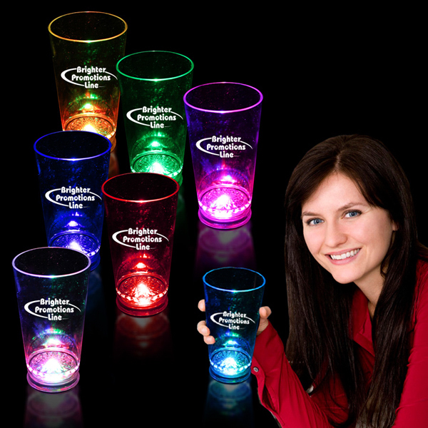 Imprinted 16 oz. Light Up LED Pint Glass