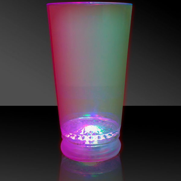 Printed Red Green & Blue 16 oz. Light Up LED Pint Glass