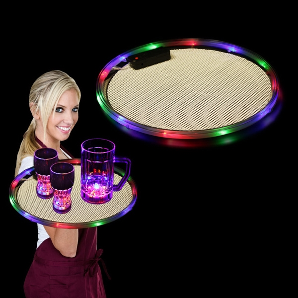 "Personalized Multi Color 14"" Light Up LED Serving Tray, Blank"