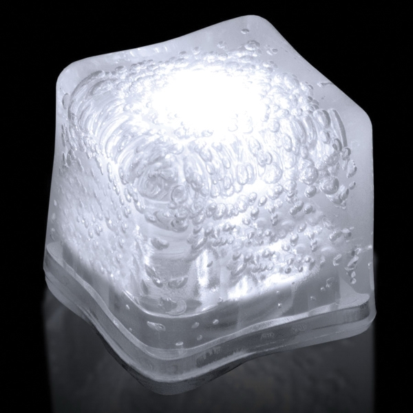 Custom White Light Up Premium LitedIce Brand Ice Cube