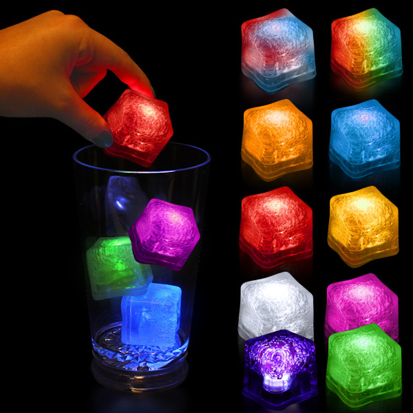 Imprinted Light Up Premium LitedIce Brand Ice Cube, Blank