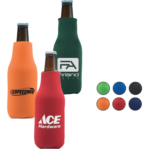 Promotional Folding Zippered Bottle Cooler