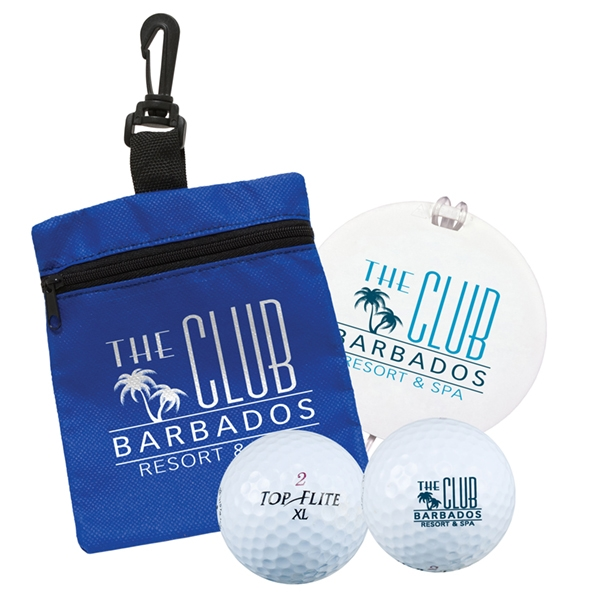 Printed Golf Tag-in-a-Bag Gift Set