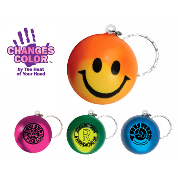 Personalized Mood Smiley Face Stress Key Chain