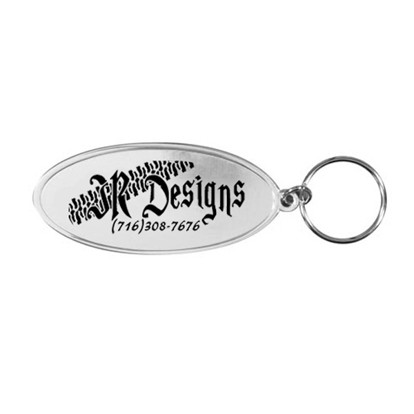 Imprinted Oval Metal Key Tag