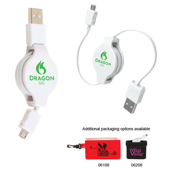 Custom Retractable USB-Micro USB Adapter