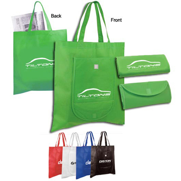 Personalized Non-Woven Fold 'n Go Tote Bag
