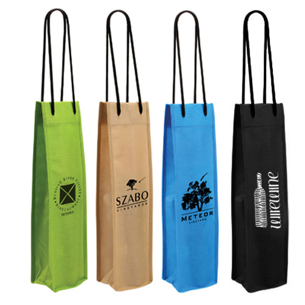 Printed Non-Woven Single Wine Bottle Bag