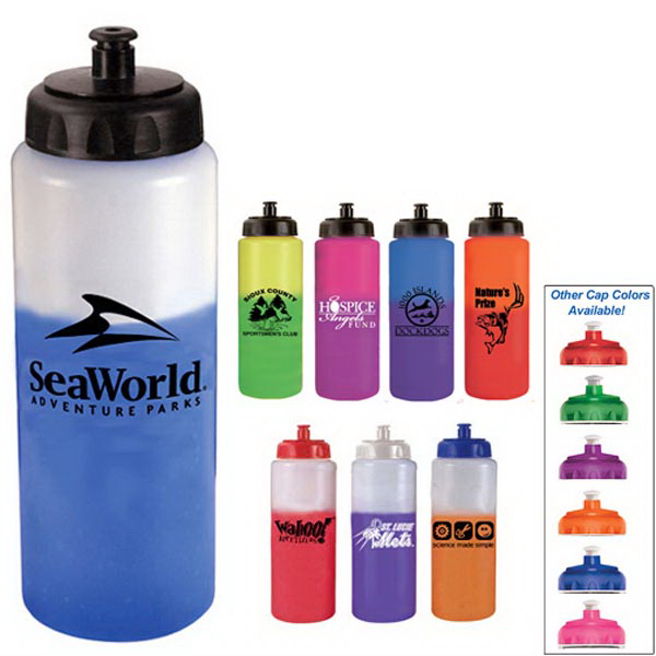 Personalized 32 oz. Mood Sports Bottle with Push 'n Pull Cap - BPA - Free