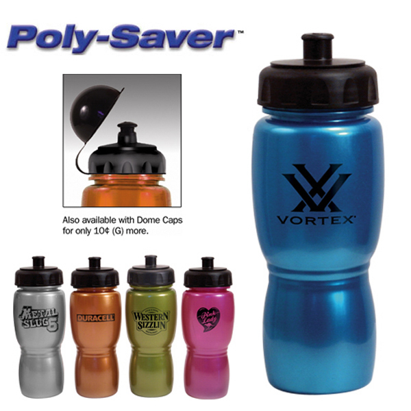 Customized 18 oz Metallic Poly-Saver Mate Bottle - BPA Free
