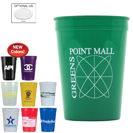 Imprinted 12 oz. Smooth Stadium Cup