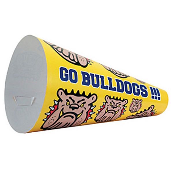 Promotional Paper Megaphone, Full Color Digital