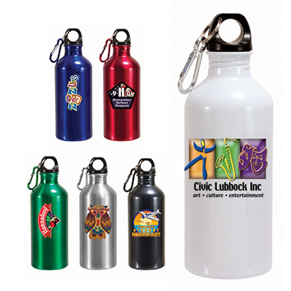 Customized 22 oz. Aluminum Trek II Bottle (1 Side), Full Color Digital
