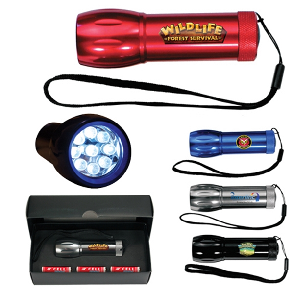 Customized Mega Might LED Metal Flashlight, Full Color Digital