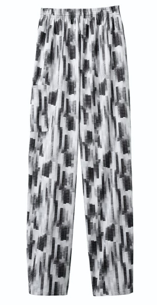 Printed SA18100 White Swan Unisex Pull-On Baggy Pants