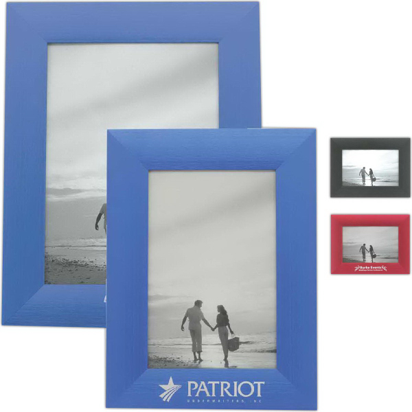 "Imprinted 5"" x 7"" Metal Frame"